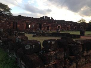 Ruins of the San Ignacio Jesuit mission: the padres' quarters.